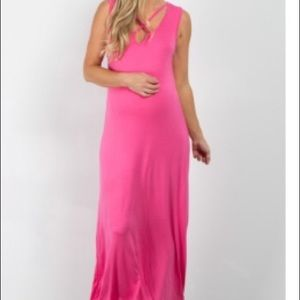 Maxi pink dress from Pink Blush Boutique